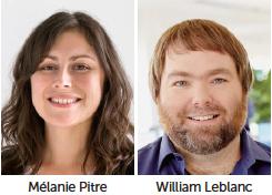 Mélanie Pitre et William Leblanc