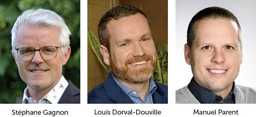 Stéphane Gagnon, Louis Dorval-Douville et Manuel Parent
