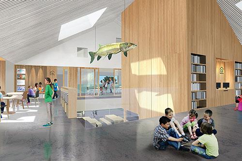 Le Lab-École Maskinongé. Image : Paquet – Taillefer et Leclerc architectes